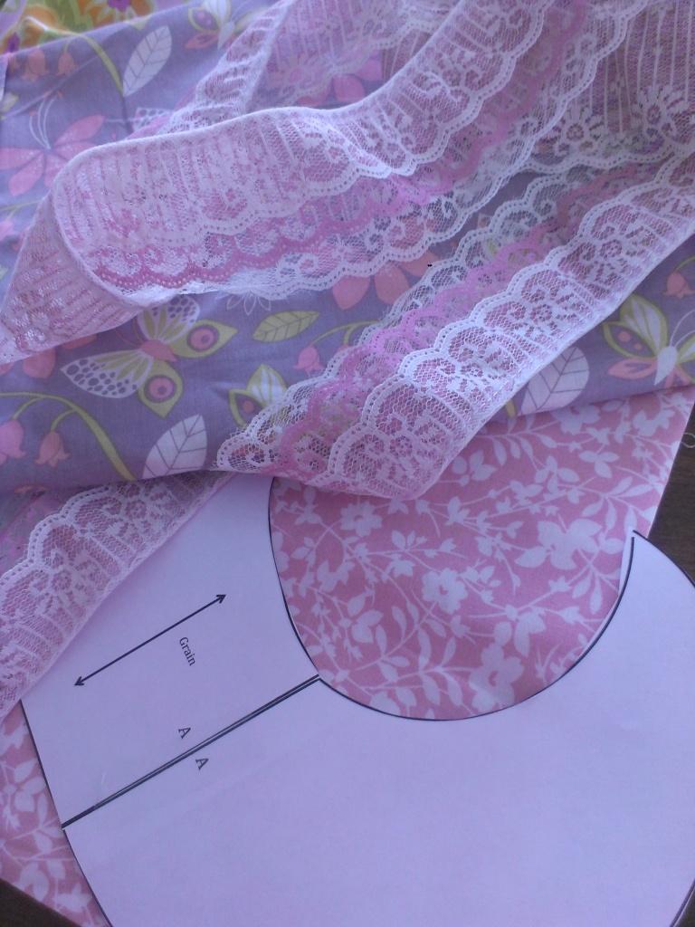 Lacey Swirly Skirt Fabric & Lace